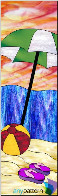 Beach Ball & Umbrella - 16 x 54