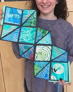 Middle School Art Projects, High School Art, Art Club Projects, 6th Grade Art, Art Desk, Handmade Books, Book Crafts, Paper Crafts, Art Classroom