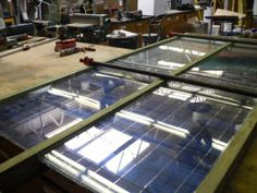 Building the frames of the solar panels