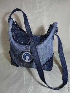 Купить Сумка Ранчо джинс - синий, сумка, сумка женская, сумка ручной работы