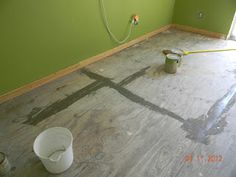We decided to use a dry-brush technique to paint the plywood floor for the time being. I leveled it the best I could and sanded it but serio. Dry Brush Painting, Diy Painting, Painted Plywood Floors, Painted Wood, Plank Flooring, Flooring Ideas, Dry Brush Technique, Shed Interior, Floor Design