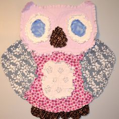 Owl rag quilt...same idea but HAVE to be a different animal!!!!