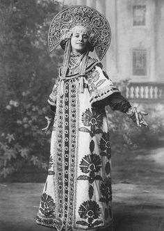 Имитация русского костюма
