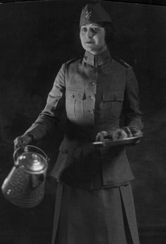 In 1918, there were many women in uniform, many in nursing gowns. Here, Mrs. Grover Coors wears the uniform of the Salvation Army in 1918. Denver Post file photo
