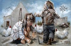 Maria M Oosthuizen Art Gallery, Art Painting, Painting People, Kids Portraits, Drawings, Children Illustration, Art, Online Art Gallery, Beautiful Art