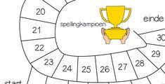spellingwoorden ganzenbord spel