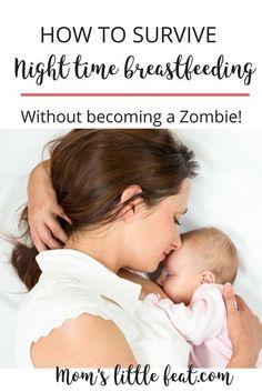 Tips to survive night time breastfeeding #breastfeeding