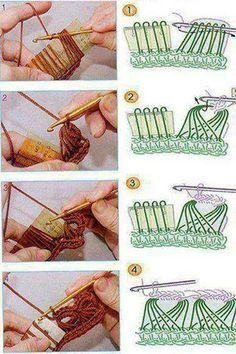 Crochet broomstick lace.  Duh!  Use an appropriate size flat stick to make loops, instead of a dowel.  I bet if you tapered that top right corner a bit, it would be even better.  Try it with stiff cardboard.