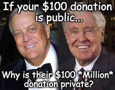 Political money flowed freely in the world of conservative billionaires David and Charles Koch in 2012.