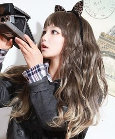 *Asian Black Hair* Too bad I have warm skin tone, or I would totally love to have this ashy brown with blonde ends!