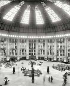 "West Baden, Indiana, circa 1903. ""The atrium, West Baden Springs Hotel"