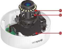 Vandal Proof Dome : VD-202Ap-V5 2 Megapixel Day & Night Vandal Dome Network Camera