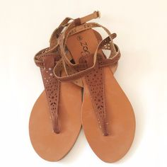 Francesca's | Brown Summer Doublestrap Sandal Cute little summer sandal from Francesca's! Great used condition. Francesca's Collections Shoes Sandals