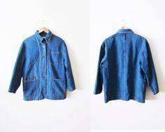 Denim Chore Coat / Womens Chore Jacket / Engineer Coat / Denim Jacket