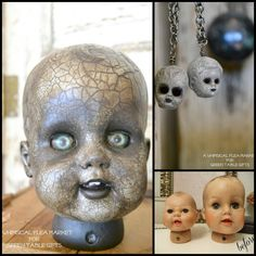 DIY Halloween Doll Heads - diyhalloweencrafts Too creepy for kids, or not?