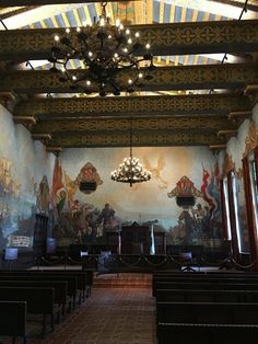 THE MURAL ROOM INSIDE SANTA BARBARA COUNTY COURTHOUSE