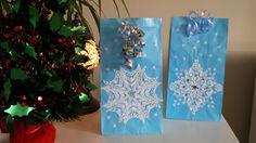handmade paper bags, christmas gift bags, bags with dollies, snowflake, paperboys, #christmasbags #snowflake #chrismasdecorations #giftbags