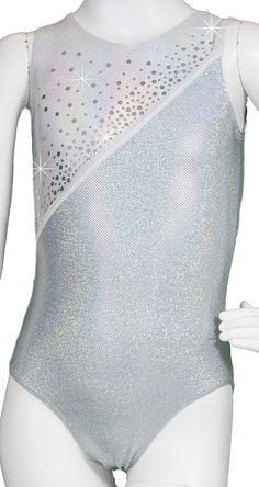 Silver Luxe Diagonal Leotard #leotards #gymnastics #gymnast #leotard