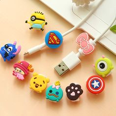 New Cute10pcs/lot Cartoon USB Cable Earphone Protector headphones line saver For Samsung HTC charging line data cable protectionhttp://deals.kancyl.com/digital-cables/new-cute10pcs-lot-cartoon-usb-cable-earphone-protector-headphones-line-saver-for-samsung-htc-charging-line-data-cable-protection/32647134509