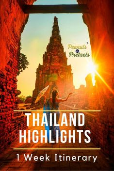 Travel Itinerary: 1 Week Highlights Thailand Itinerary - Peanuts or Pretzels Thailand Travel Guide, Visit Thailand, Asia Travel, Croatia Travel, Bangkok Thailand, Hawaii Travel, Italy Travel, Places To Travel, Travel Destinations