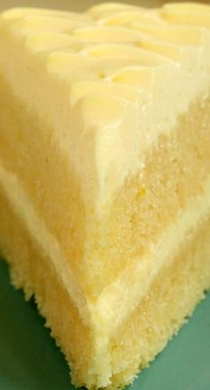 Lemon Cream Cake is an all-out lemon dessert experience! Lemon Cream Cake - Lemon Cream Cake Recipe ~ Dense lemon cake layers and a light, fluffy, lemon-y frosting Lemon Desserts, Lemon Recipes, Just Desserts, Baking Recipes, Sweet Recipes, Dessert Recipes, Lemon Cakes, Coconut Cakes, Lemon Layer Cakes
