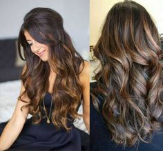 Hair Color Trends 2018 - Highlights : Hair Highlights For Dark Brown Hairstyles Hair Color Tre Hair Color And Cut, Brown Hair Colors, Dark Colors, Front Hair Styles, Hair Front, Brown Hair With Highlights, Color Highlights, Hair 2018, Balayage Hair