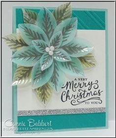 Reason for the Season, Silver/Blue/White Challenge, poinsettia, vellum, created by Connie Babbert, www.inkspiredtreasures.com