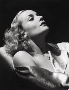 carole lombard by hurrel