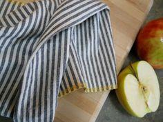 2 Organic Stripe Tea Towels  Organic Cotton and by TallPineStudio, $20.00