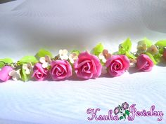 Bracelet with delicate pink roses is made of polymer clay. #handmade #bracelet #polymer_clay #fimo #Hand_Craft #handmadejewelry #pinkRoses #pinkbracelet #pink_bracelet #pink #jewelry #flowers_handmade #flowers #roses_jewelry #Bracelet_with_Roses #BraceletBuy