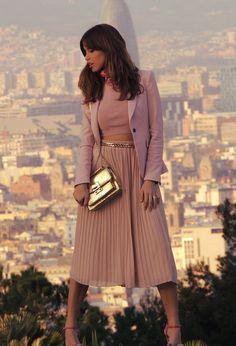 @roressclothes closet ideas #women fashion Trendy Midi Skirt Outfit Idea