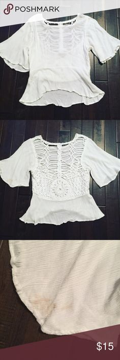 Shop Hopes Top Shop Hopes Boutique Top • Size Large • Note small stain on back left sleeve Hopes Boutique Tops Blouses