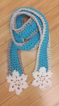 Handmade crochet Frozen scarf!