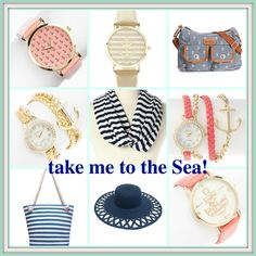 Some of the sweetest nautical jewelry, bags, watches, scarves, hats, etc. So many ANCHORS!! I'm completely in love...