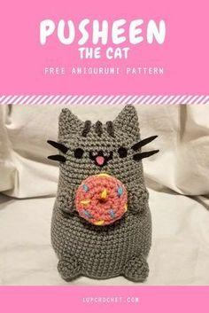 Free Pusheen the Cat amigurumi pattern designed by MiniNinja9.
