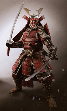 Samurai warrior, i couldn't even imagine how scary itd be to be attacked by this dude.
