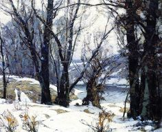 John F. Carlson. Winter Willows #tree #art #landscape