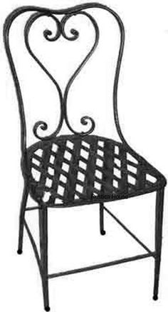 Rustica House Spanish forged iron chair for veranda, rustic patio and garden. It is hand crafted in black iron, rusted and natural finishing. #myRustica