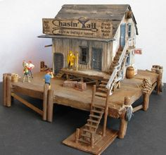 Fishing Tackle Shop in HO scale for Model Train Structures handmade by D.A. Clayton