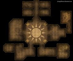 Clean Sun Temple map for DnD / Roll20 by SavingThrower.deviantart.com on @DeviantArt
