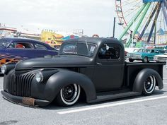'41 Chevy Pickup: Chopped 3 1/2 inches, Sectioned 4 1/2 inches, and shortened 21 inches ~