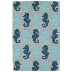 Kaleen Sea Isle Blue Rectangular Indoor/Outdoor Handcrafted Novelty Area Rug (Common: 8 X 10; Actual: 7.5-Ft W X 9-Ft L) #FavoriteAreaRugs