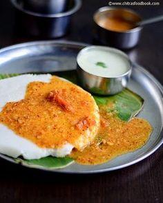 Karnataka style tatte idli recipe with sambar & chutney - Yummy breakfast recipe ! Veg Recipes, Indian Food Recipes, Vegetarian Recipes, Cooking Recipes, Easy Cooking, Sauce Recipes, Delicious Breakfast Recipes, Yummy Food, Vegetarian