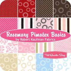 Rosemary Pimatex Basics Fat Quarter Bundle Robert Kaufman Fabrics - Fat Quarter Shop