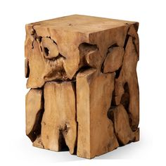 reclaimed teak tree trunk bistro table with root base | funky cool