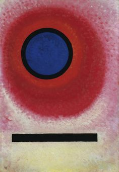 Wassily Kandinsky (Russian, 1866-1944), Blauer Kreis No. 2 (Blue Circle II], January 1925. Oil on cardboard, 60.9 x 41.5 cm.