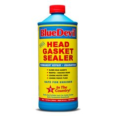Investigate legitimacy --- BlueDevil Head Gasket Sealer can be used to permanently seal blown, cracked, or leaking head gaskets, heater cores and freeze plugs. Steel Seal, Truck Engine, Diesel Cars, Vodka Bottle, Plugs, Frozen, Brake Fluid, Color Blue, Gender