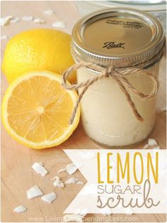 Homemade Sugar Scrub Recipe | How to Make Your Own Sugar Scrub 1C sugar 1/4 C coconut oil.EO Lemon or your favorite!