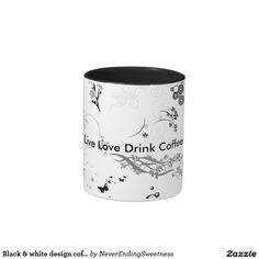 Black & white design coffee mug
