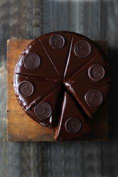 ... sacher cake with apricot jam and chocolate glaze ...